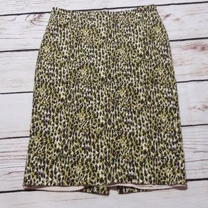 J Crew Long Pencil Skirt Animal Print Sz 4 ~